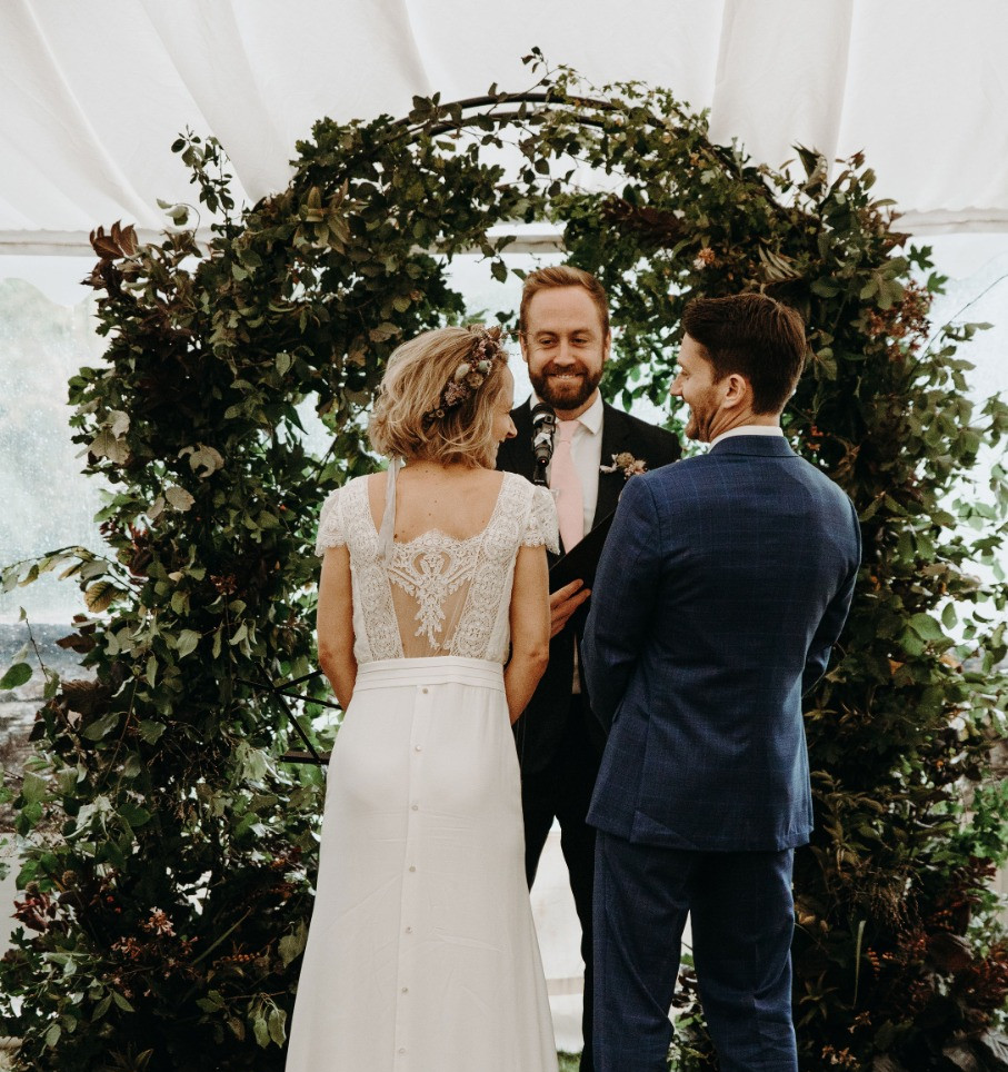 Francesca and Simon's Home Wedding