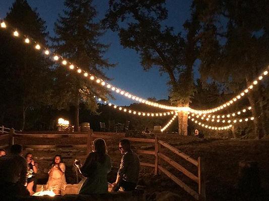 Redwood Retreat Wedding Fire Pit