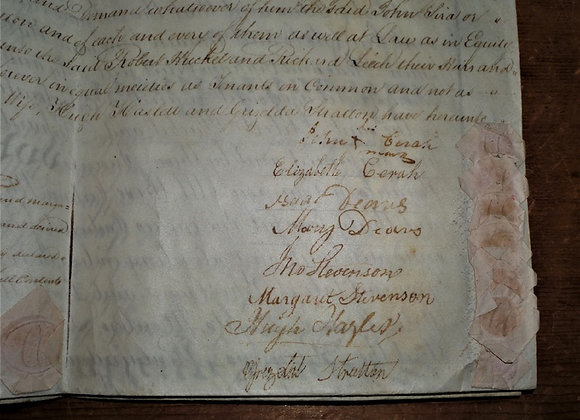 1828 Philadelphia Deed for Business on 'Relief Alley' in Today's Queen Village