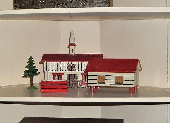 Antique German Putz Farm - Four Piece Set