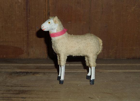"An Antique German Putz 3.5"" Ewe with Cloth Ears"