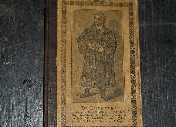 Pennsylvania German Alphabet Book with Martin Luther on the Cover