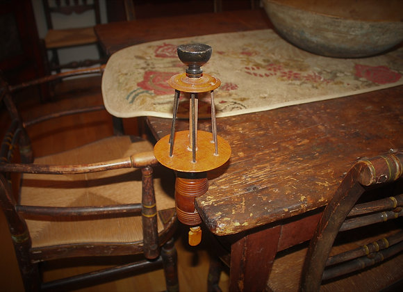 Mid 19th Century Fruitwood Sewing/Reel Clamp