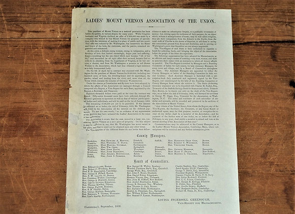 1859 George Washington- Mt Vernon Ladies' Association for the Union Appeal