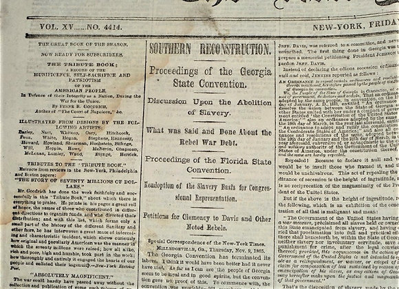 Clemency for Jefferson Davis? Southern Reconstruction - NY Times - Nov 17, 1865