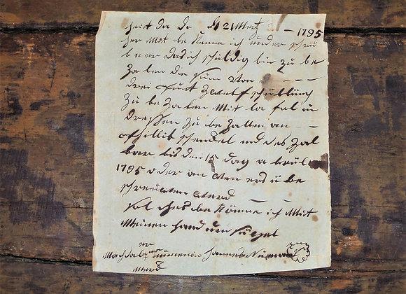 1795 Debt Note - Neuman & Schenckel - Lancaster County