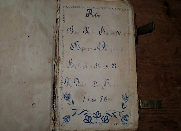 Hand-Painted Book Plate in 1864 Johann Friedrich Stark's Hand Book Of Daily Pray