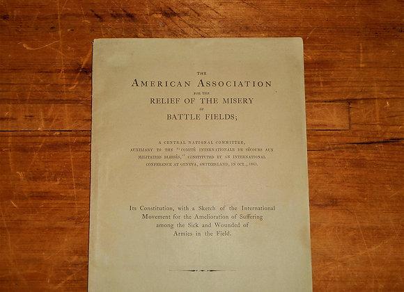 Civil War - 1866 International Committee on Relief on the Battlefields