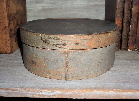 19th Century Blue/Gray Pantry Box with Early Sewn Repair
