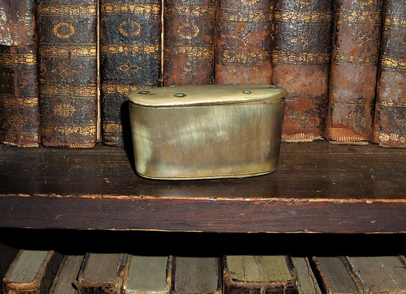 Revolutionary War Era Horn and Bone Snuff Box