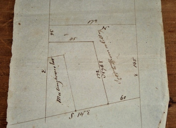 1828 Surveyor's Meetinghouse Sketch for Thomas Colley Attributed to James Brown