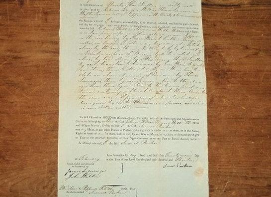 1813 Quit Claim - Capt. Sam Parker - Revolutionary War