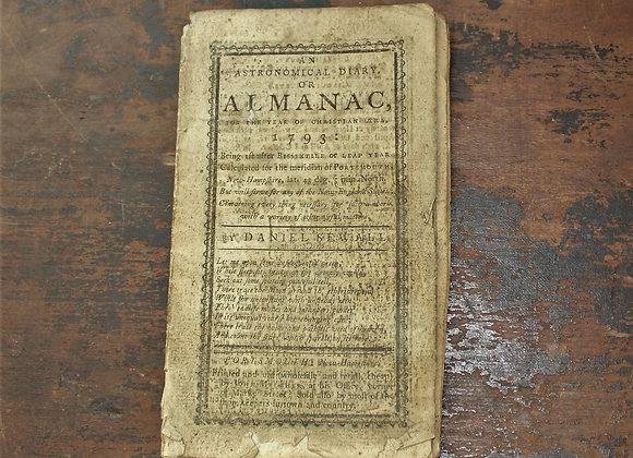 1793 Daniel Sewell Almanack - Portsmouth NH - RARE