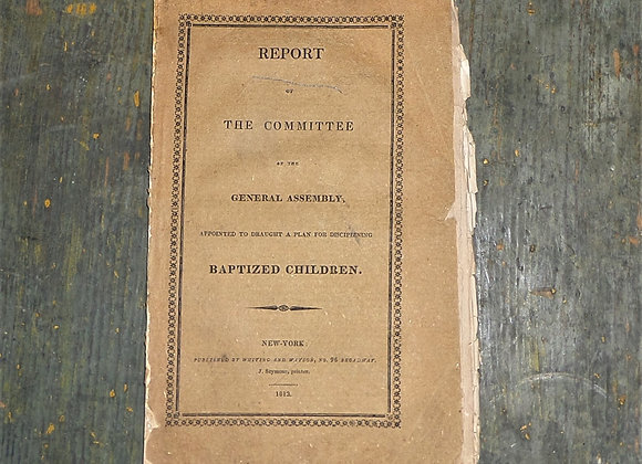 1813 Disciplining of Baptized Children - Presbyterian Church Pamphlet