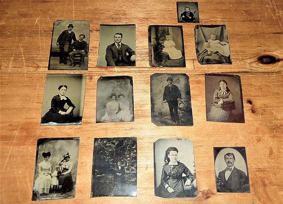 Set of 13 Antique Tintypes