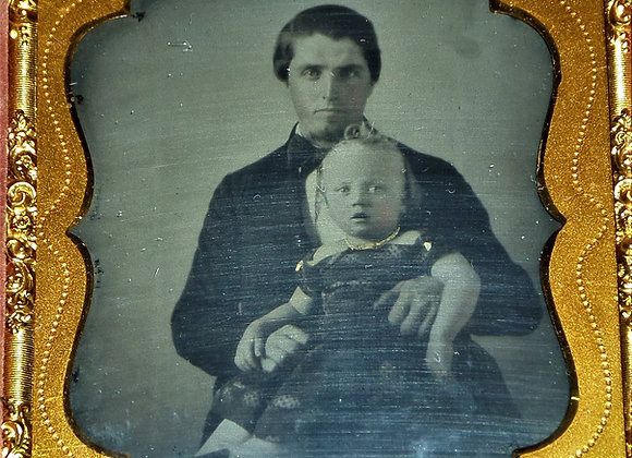 Ambrotype of Father and Daughter