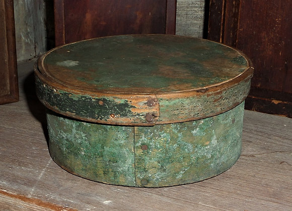 Small Antique Pantry Box in its Original Green Paint