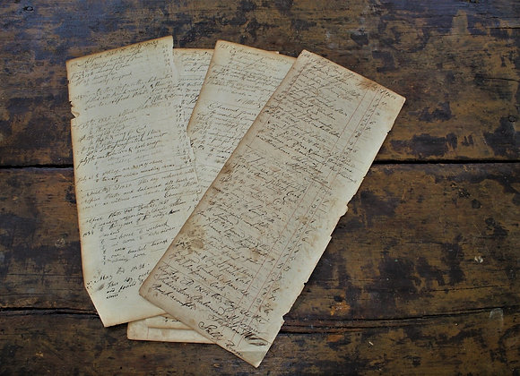 Early 1800's Doane Family of Connecticut Set of Accounting Pages