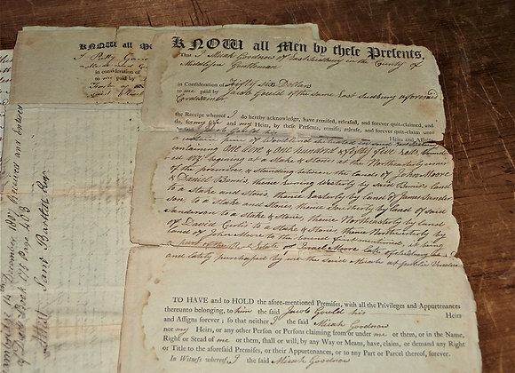 Revolutionary War - Gould Family of Sudbury Massachusetts Deeds and Documents