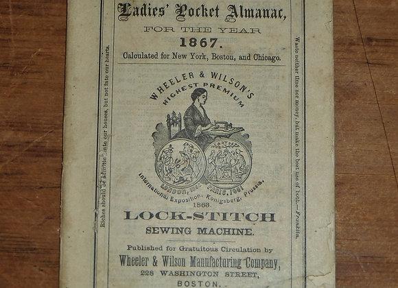 1867 Ladies Pocket Almanac