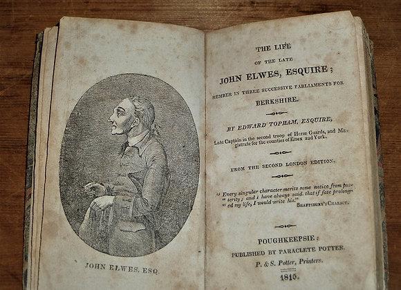 Ebeneezer Scrooge Inspiration - 1815 Life of the Late John Elwes Book