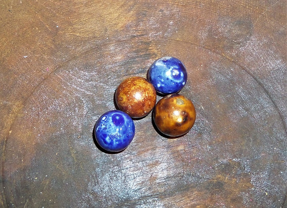 Sets of Bennington Marbles with Brown Shooter
