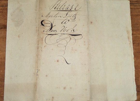 1808 Cocalico PA Deed with 1814 Martin Lutz Release