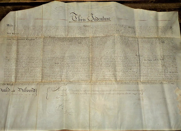 1790 Revolutionary War Soldier Signatures on Dauphin County, PA Vellum Deed -