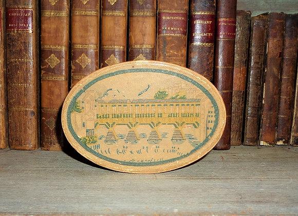 Late Victorian Wallpaper Trinket  Box