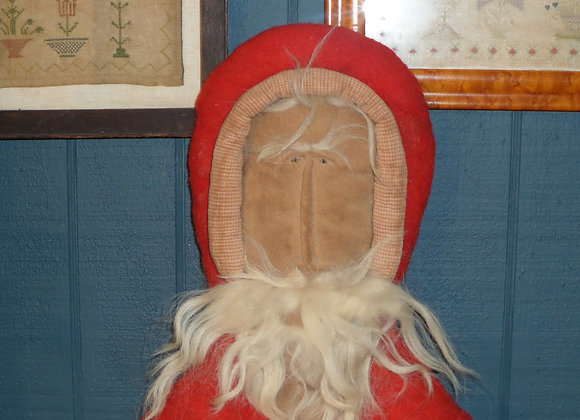 Primitive Handmade Cloth and Felt Santa Head