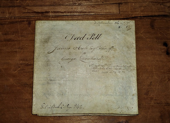 1791 Charles Biddle and James Ash Signatures - Deed Poll Philadelphia