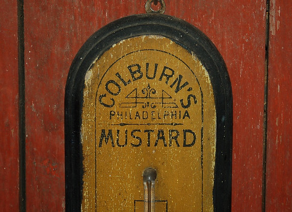 Late 19th Century Colburn's Mustard Hanging Thermometer