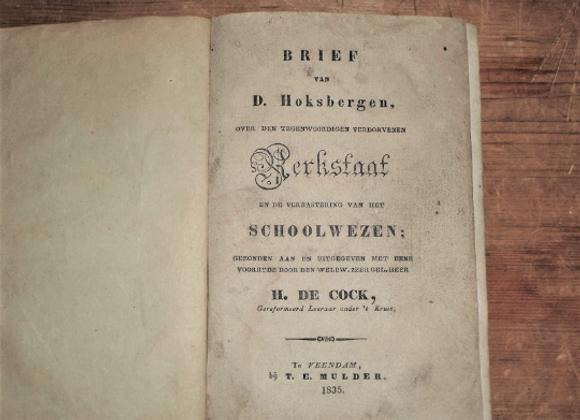 1835 Dutch Reformed Church Seminary Schoolbook