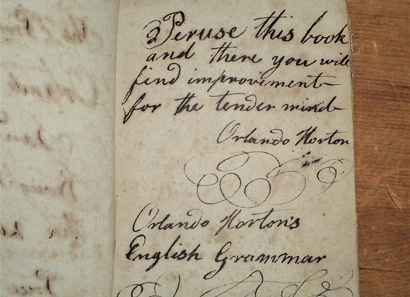 1823 Murray's Grammar with Doodles by It's Young Owner