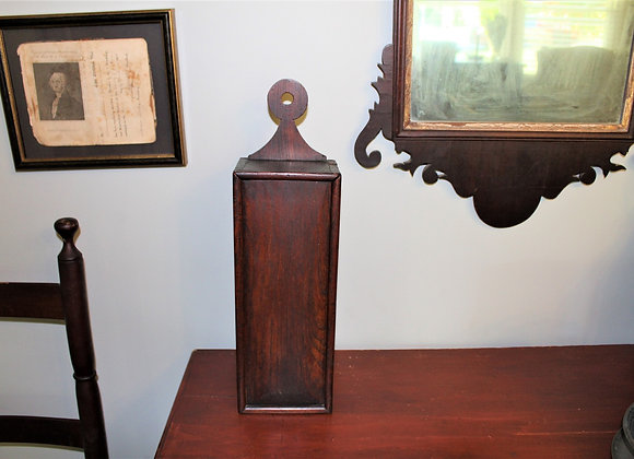Circa 1800 Walnut Lollipop Top Hanging Slide Top Box