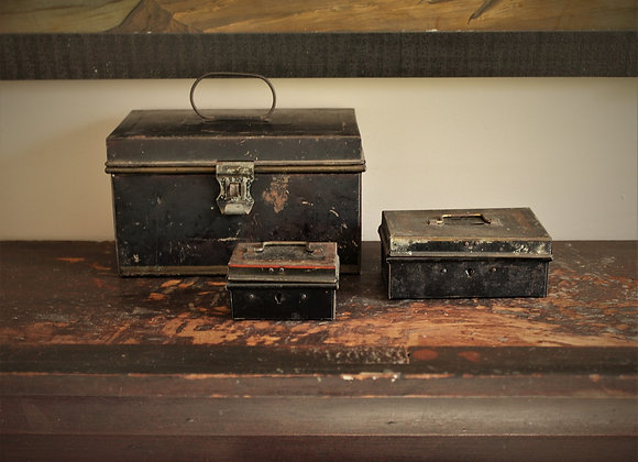Set of Tin Document Boxes - Early 20th Century