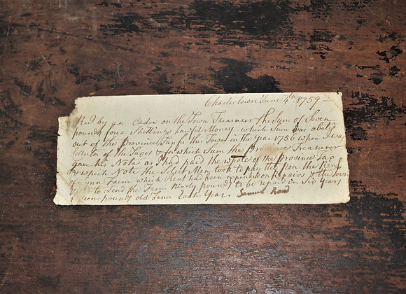 1759 Taxation in Colonial America - S Rand Response to Taxes