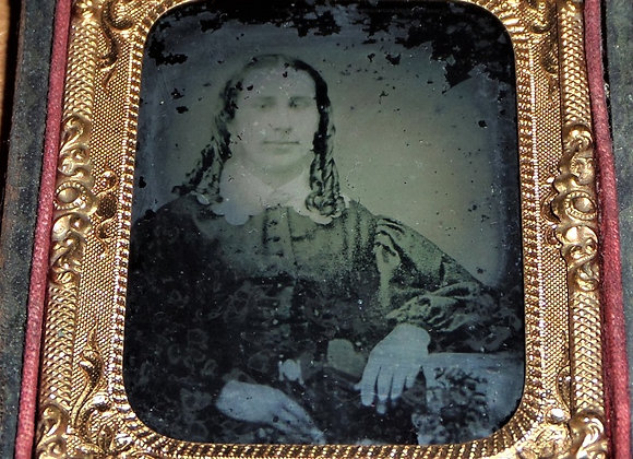 Man in Woman's Dress? Mid 19th Century Ambrotype