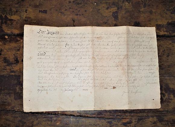 1784 & 1793 Bond Papers Pvt. Jacob Kauffman - Revolutionary War - Pennsylvania
