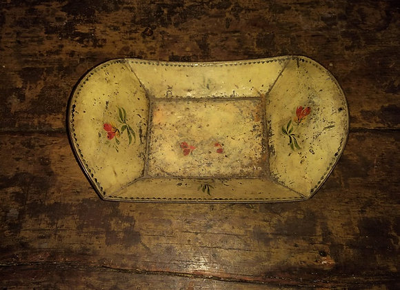 Early 1800s Painted Tinware (Toleware) Bread Basket