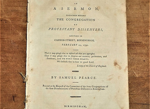 1790 Sermon to the Congregation of Protestant Dissenters on the Test Act