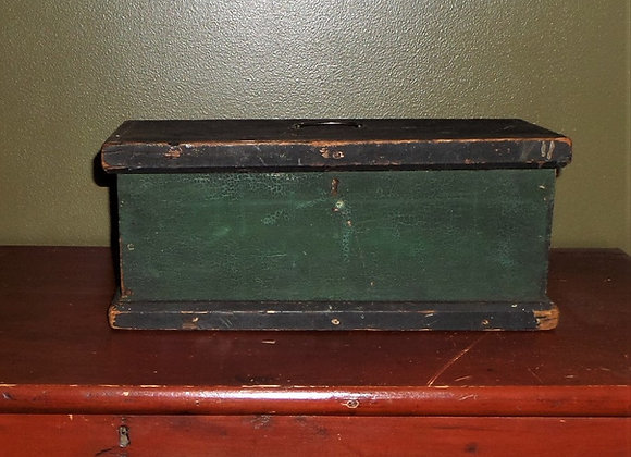 Green and Black Painted Document Box - Early 19th Century