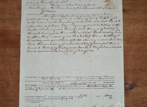 1846 Sale of Parsonage Land Salisbury, MA