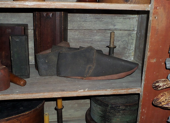 18th Century Adult Size Unfinished Leather 'Clog' Uppers