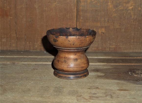 Antique Wood Pounce Pot