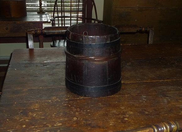 Mid 19th Century Storage Bucket with a Wonderful Dark Patina