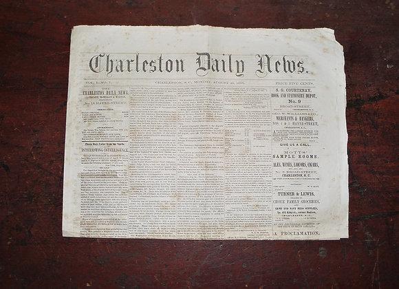 Charleston Daily News 8/25/1865