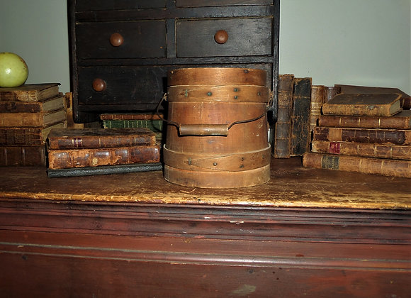 Antique Top of the Stack Firkin in Its Natural Patina