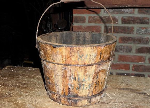19th Century Beef Tallow Bucket Stamped 'Salem Mass'