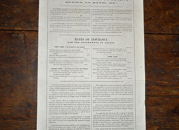 1852 Lincoln Mutual Fire Insurance Rates